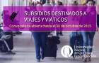 Imagen sobre Subsidios destinados a Viajes y Viáticos