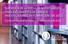 Imagen sobre Subsidios de Apoyo a la Investigación para Estudiantes de grado e Investigadores en formación (SAI 2015)