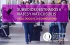 """Imagen sobre Resultados de la Convocatoria """"Subsidio destinado a Viajes 2015"""""""