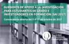 Imagen sobre Subsidios de apoyo a la investigación para estudiantes de grado e investigadores en formación (SAI 2017)