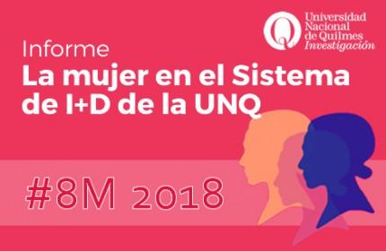 Imagen sobre Participación de la mujer en el Sistema de I+D de la UNQ