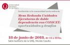 """Imagen sobre Mesa Redonda """"Unidades Ejecutoras de doble dependencia con CONICET: oportunidades y desafíos"""""""