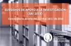 Imagen sobre SUBSIDIO DE APOYO A LA INVESTIGACIÓN SAI-2018