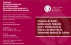 Imagen sobre Programa de Acción Institucional y Protocolo para la Prevención de la Violencia de género en la Universidad Nacional de Quilmes