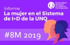 Imagen sobre Participación de la mujer en el Sistema de I+D de la UNQ – Informe 2019