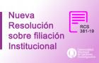 Imagen sobre Nueva Resolución sobre filiación Institucional