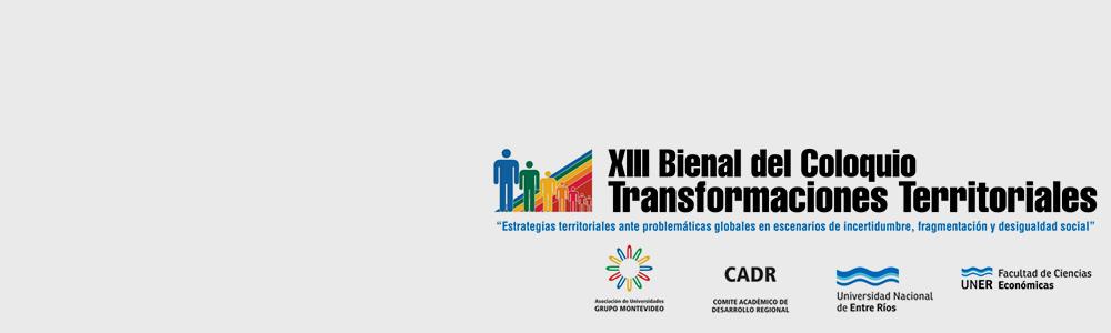 XIII Bienal Coloquio Transformaciones Territoriales